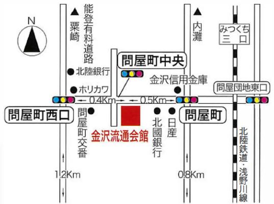 金沢流通会館 案内地図