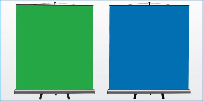 クロマキースクリーン 緑・青