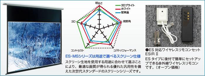 電動巻上スクリーンES/ESWフォト
