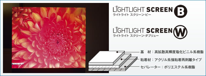 LIGHTLIGHT SCREENフォト