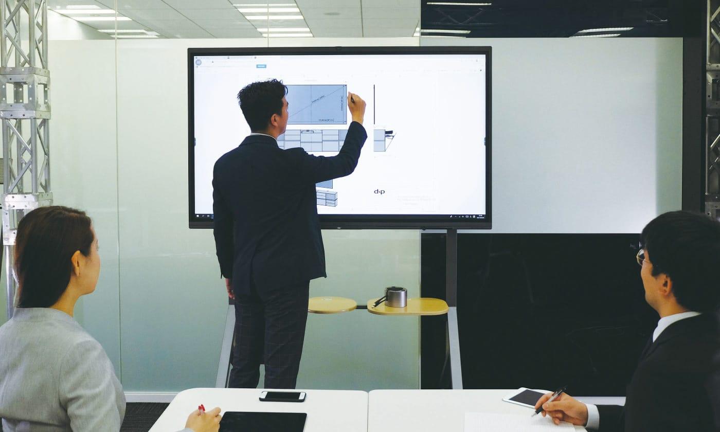 MAXHUB V5 Cシリーズ 会議室での使用イメージ
