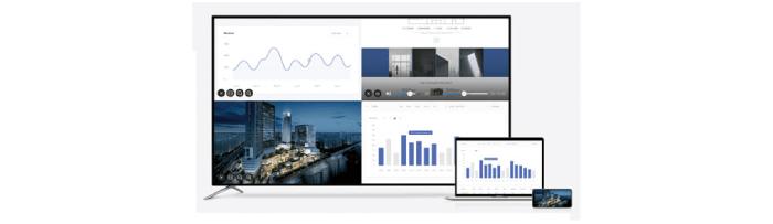PCやタブレットの画面を投影するイメージ