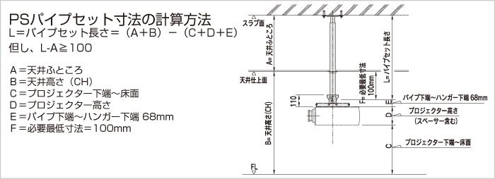 PJ-FH/PSパイプセットの計算方法図