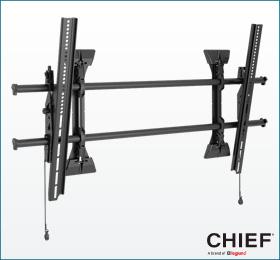 フラットディスプレイマウント 大型用 傾斜調整機能付マウントXTM1Uフォト